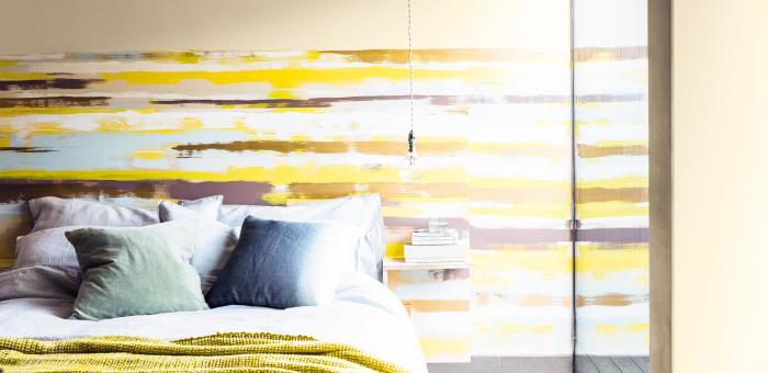 färg ränder sovrum modernt glödlampa